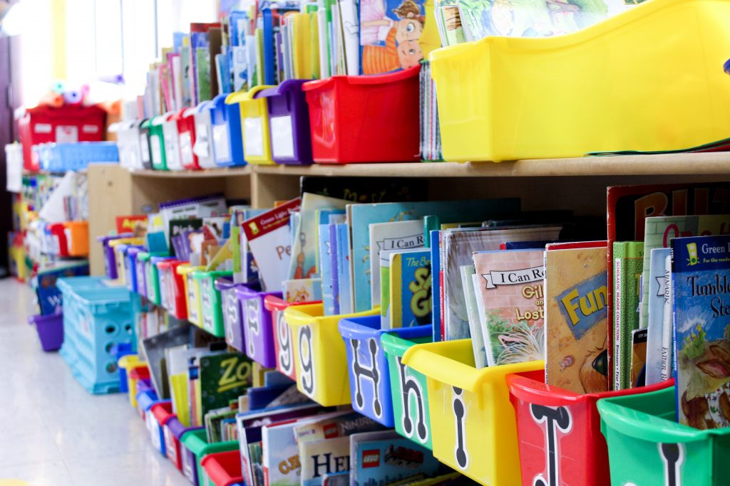 books in a classroom library